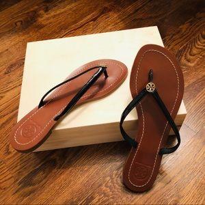 Tory Burch | Terra Leather Thong Flip Flops